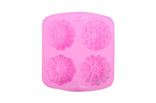 Silikónová forma na mydlo 4 kvietky