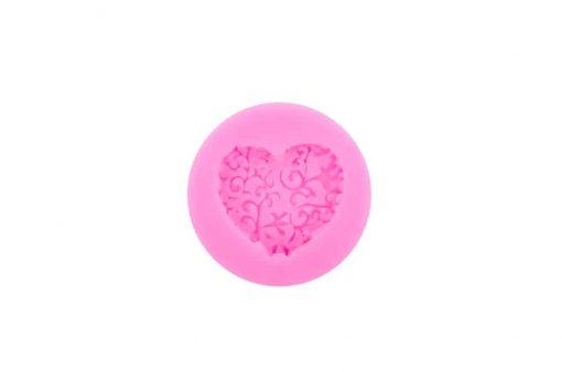 Forma na mydlo srdce s ornamentom